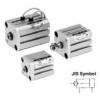 CDQSKD25-25D,CDQSKD25-30D,CDQSKD25-35D,CDQSKD25-40D,CDQSKD25-45D,CDQSKD25-50D,SMC紧凑型气缸