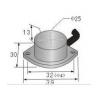 饼型接近传感器 HG-A25-JK,HG-A25-JB,
