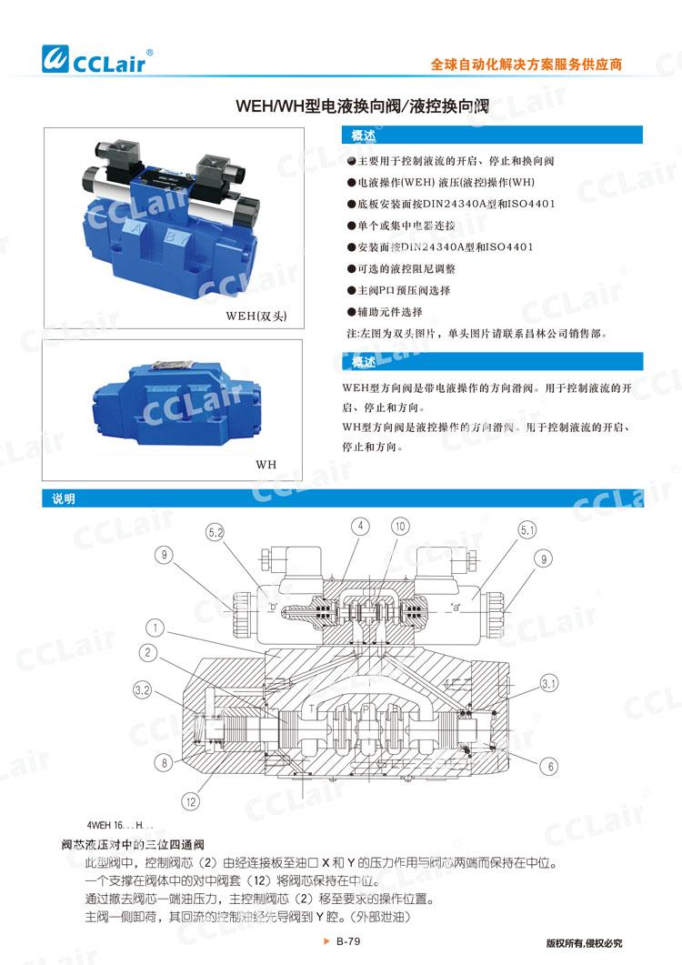 WEH,WH型电液换向阀,液控换向阀-1