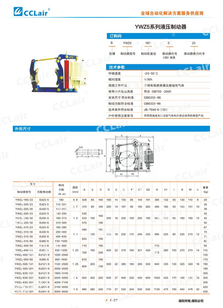 YWZ5系列液压制动器