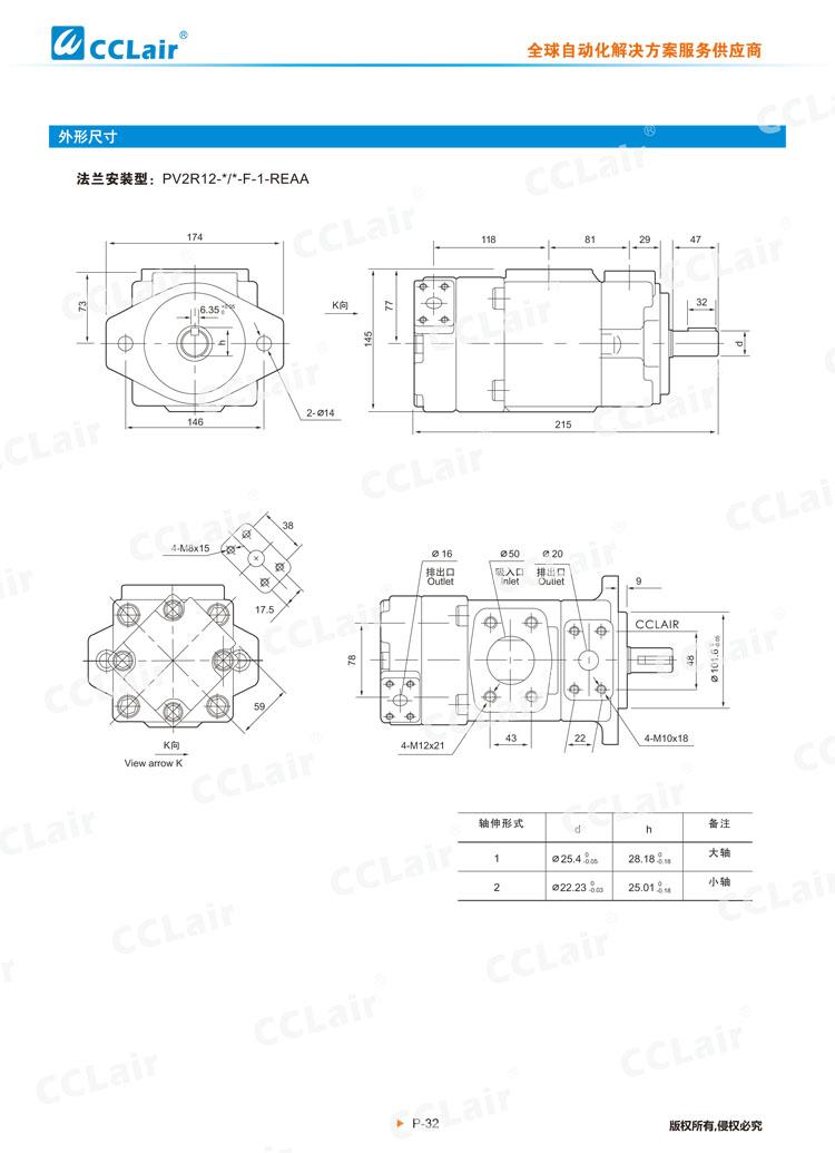 PV2R系列高压低噪音叶片泵(双泵)-5