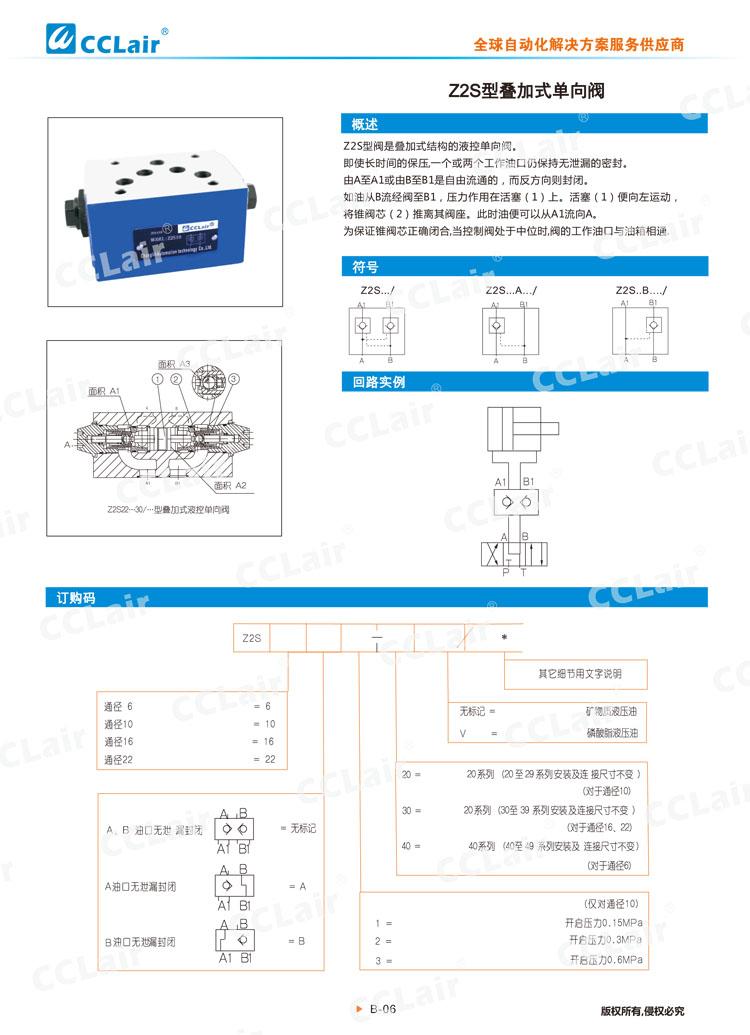 Z2S型叠加式单向阀-1